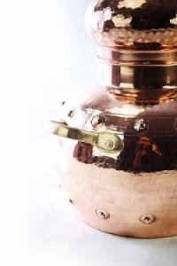 Alembik Destille, 10 Liter, genietet & biologisch gedichtet