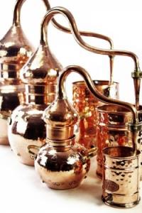 Alembik Destille, 3 Liter, genietet & biologisch gedichtet