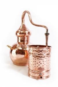 Alembik Destille, 30 Liter, hartverlötet (verschweißt)