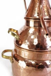 Alquitara Destille, 3 Liter für die Destillation ätherischer Öle und aromatischer Brände