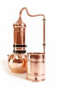 Alembik mit Kolonne, 5 Liter