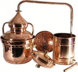 Pot Still Destille mit Hydrodichtung und Zubehören, 20 Liter
