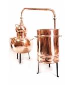 Alembik Destille, 50 Liter, hartverlötet (verschweißt)