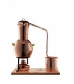 Arabische Destille mit Sieb im Hut und mit Spiritusbrenner,  2 Liter