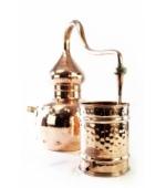 Alembik Destille, 5 Liter, genietet & biologisch gedichtet